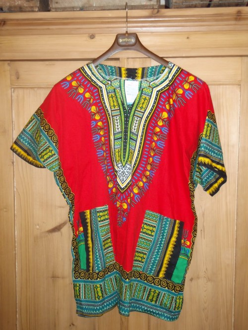 Charity shop print tunic