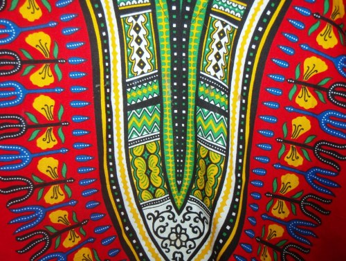 Tribal print tunic from St Peters Hospice