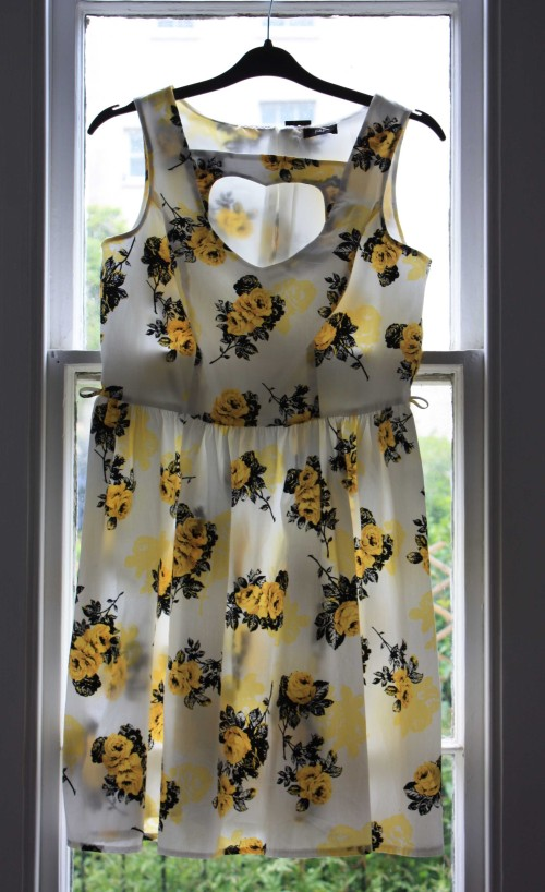 Yellow rose pint Tesco dress