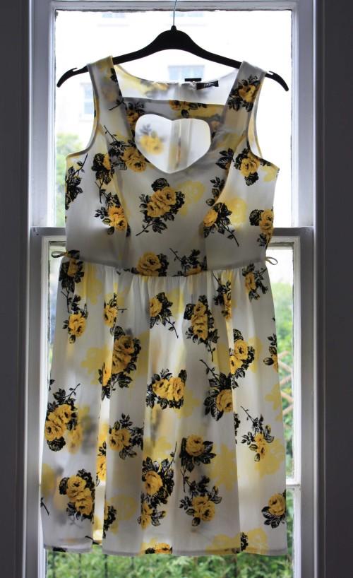 Yellow rose pint Tesco dress