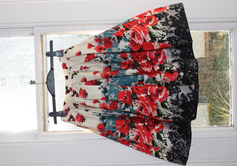 50s style floral skirt from Primark