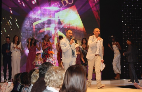Andrew Barton and Mark Heyes at Bristol Fashion Week finale