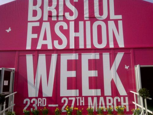 Bristol Fashion Week tent at Cribbs Causeway