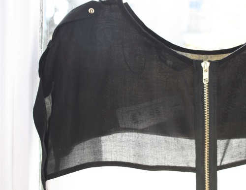 Black and cream tunic with exposed zip New Look S/S 11