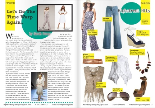 70s fashion in Pigeon Magazine