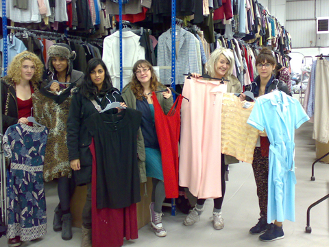 UWE fashion students select clothes from Oxfam's Portishead Hub