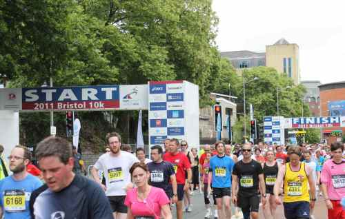 Bristol 10k finish line
