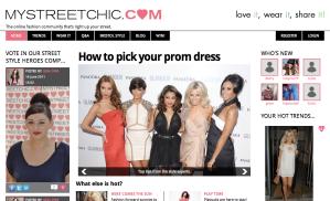 mystreetchic.com homepage