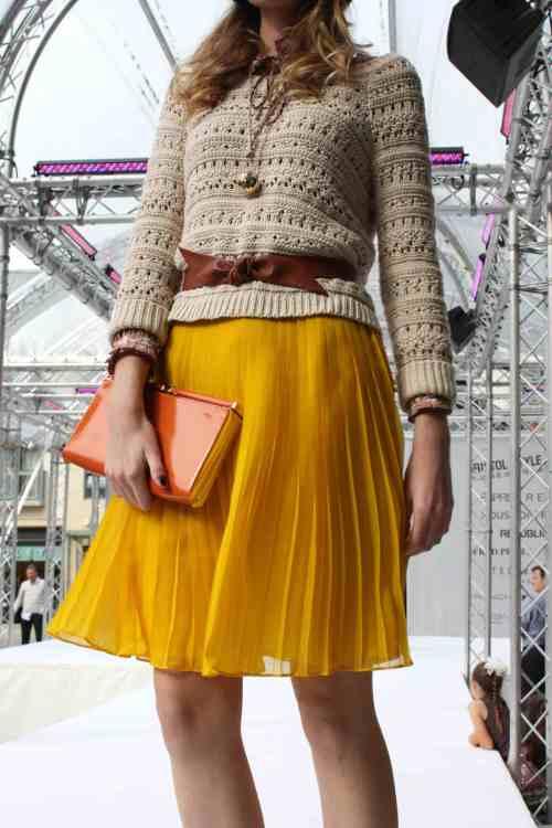 Cabot Circus Monsoon yellow skirt