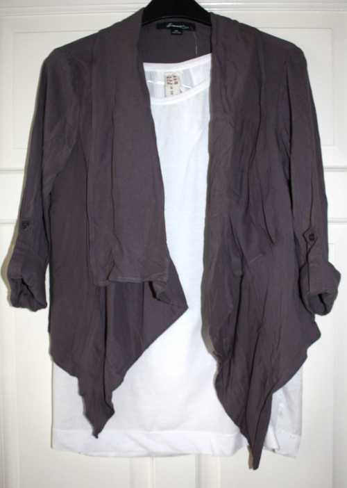 Forever 21 waterfall jacket  and Zara t-shirt