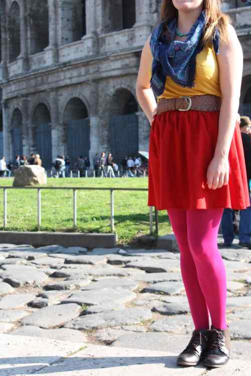 Colour clashing at the Colosseum