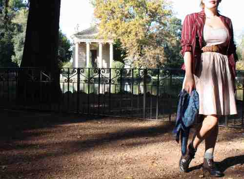H&M dress at Villa Borghese