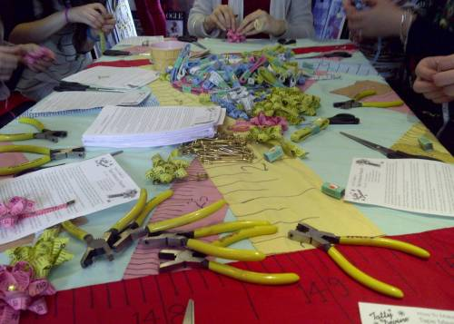 Tatty Devine workshop: busy hands at work