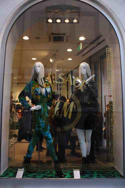 Versace for H&M window