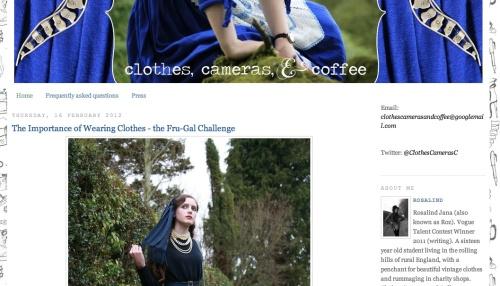 Clothes, Cameras and Coffee blog