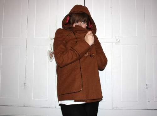 Topshop hooded coat