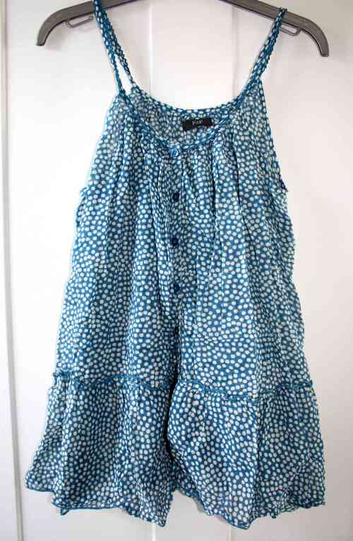 Blue spotty F+F top