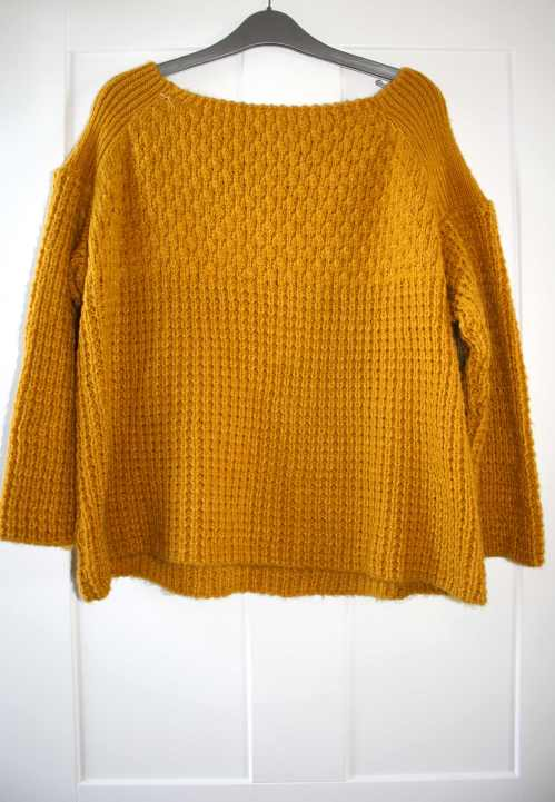 Mustard yellow chunky knit Warehouse jumper