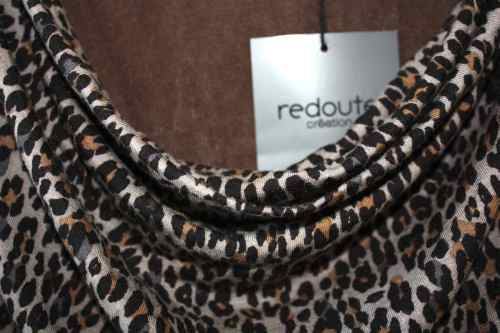 Redoute leopard print jersey dress