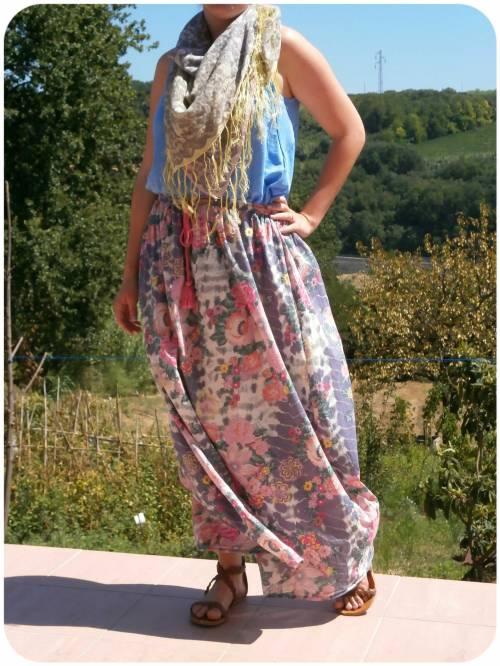 Accessorize maxi skirt