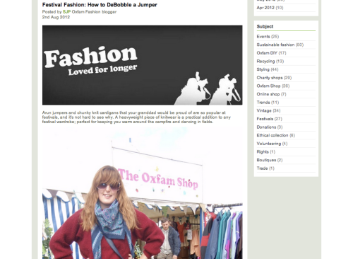 Oxfam Fashion screen grab