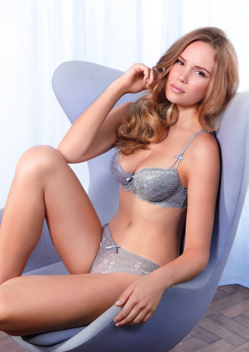 Boux Avenue - Chloe Lace set in Grey