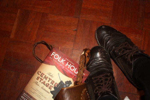The Folk House A/W programme and my boots!