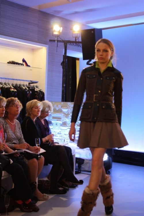 I love this Barbour biker jacket, with McQ skirt
