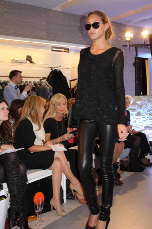 Helmut Lang sweater and Joseph leather leggings