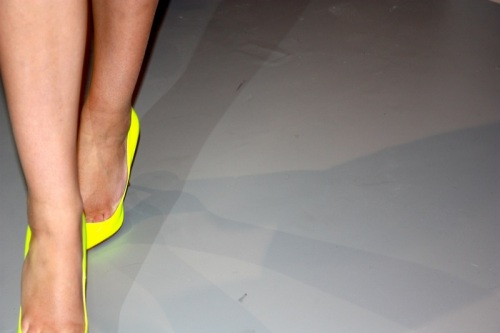 Neon green Christian Louboutin heels
