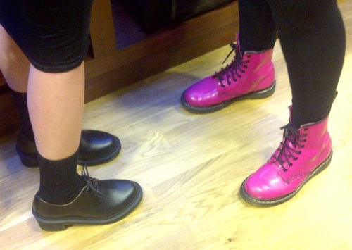 Bright pink Dr Martens at Bristol launch party | Ship-Shape and Bristol Fashion