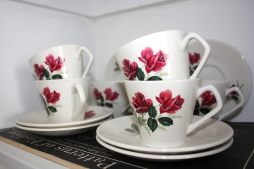 Lord Nelson rose teacups | Ship-Shape and Bristol Fashion