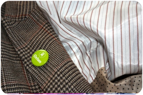 H&M blazer with Oxfam badge | Ship-Shape and Bristol Fashion