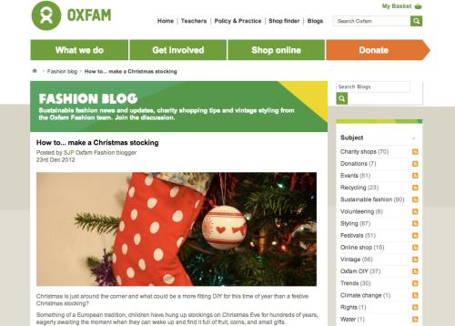 Oxfam DIY stocking   Ship-Shape and Bristol Fashion