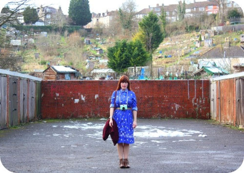 Blue vintage dress | Ship-Shape and Bristol Fashion