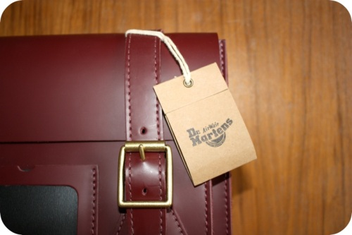Dr Martens satchel in cherry red | Ship-Shape and Bristol Fashion
