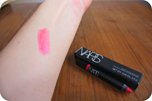 Nars Lip Pencil swatch in Mexican Rose | Ship-Shape and Bristol Fashion