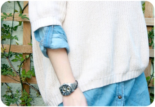 Topshop jumper and Next denim shirt | Ship-Shape and Bristol Fashion