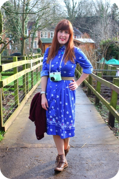 Vintage blue dress and Diana F+ | Ship-Shape and Bristol Fashion