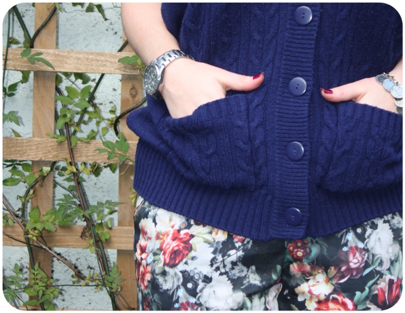 Ship Shape And Fashionable: Topshop Florals And Vintage Knits