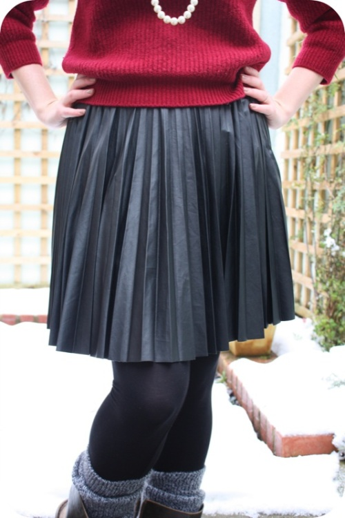 Warehouse skirt and charity shop jumper | Ship-Shape and Bristol Fashion