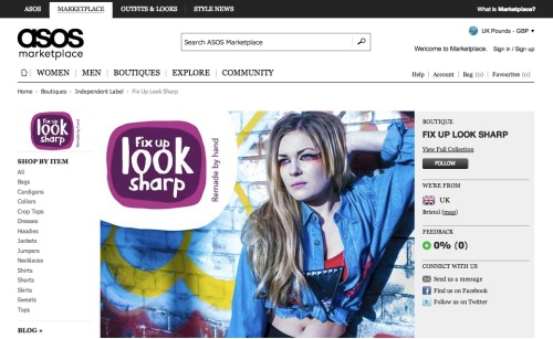 Fix Up Look Sharp on ASOS Marketplace | Ship-Shape and Bristol Fashion