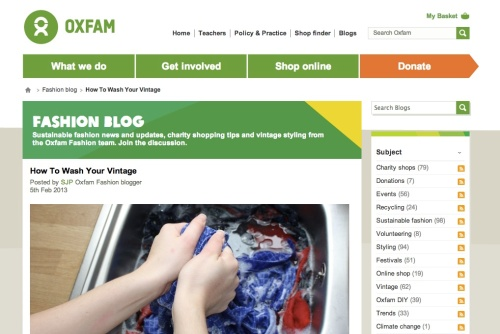 Oxfam How to Wash Vintage | Ship-Shape and Bristol Fashion