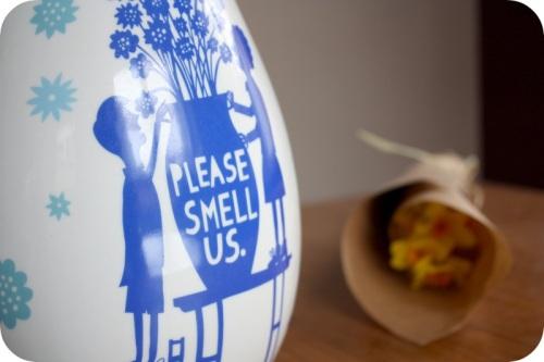 Rob Ryan 'Please Smell Us' vase   Ship-Shape and Bristol Fashion