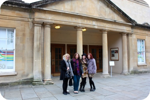 BiF Bloggers outside Bath's Fashion Museum