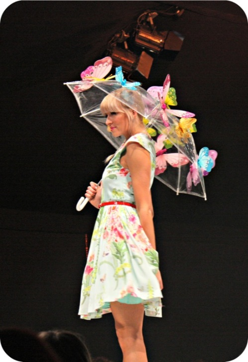 Floral John Lewis S/S13 dress at Bristol Fashion Week