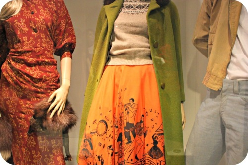 Vintage 50s frocks at Bath Fashion Museum