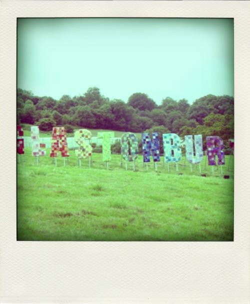 Rock The Week Glastonbury sign