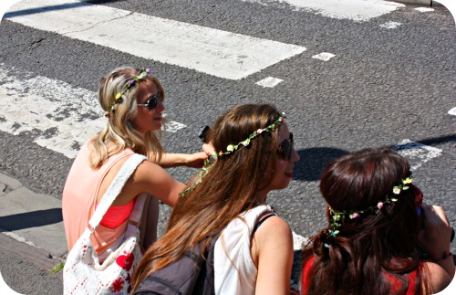 Floral hair bands at St Pauls Carnival