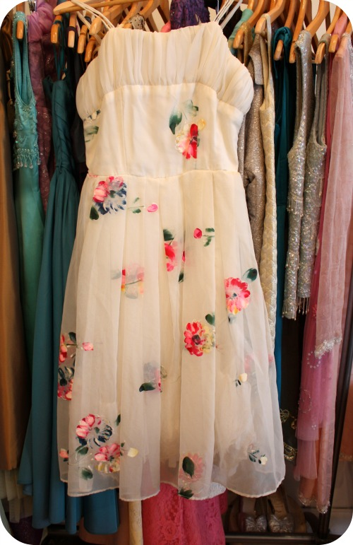 Hand-painted vintage dress from Heartfelt